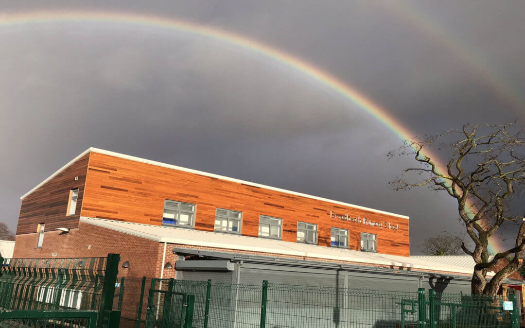 How we stood out from the crowd, BPS captured under a soaring rainbow